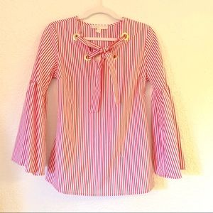 MICHAEL KORS | striped shirt size small NWT